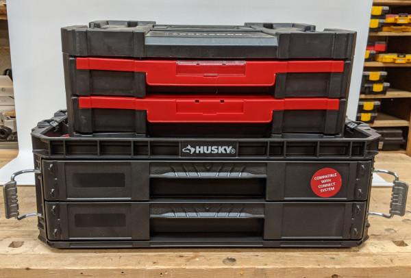 Husky Connect System 2-Drawer Organizer vs VersaStack