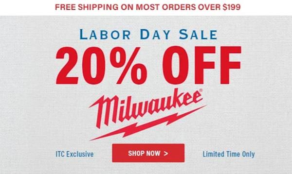 International Tool Milwaukee Labor Day 2021 Sale