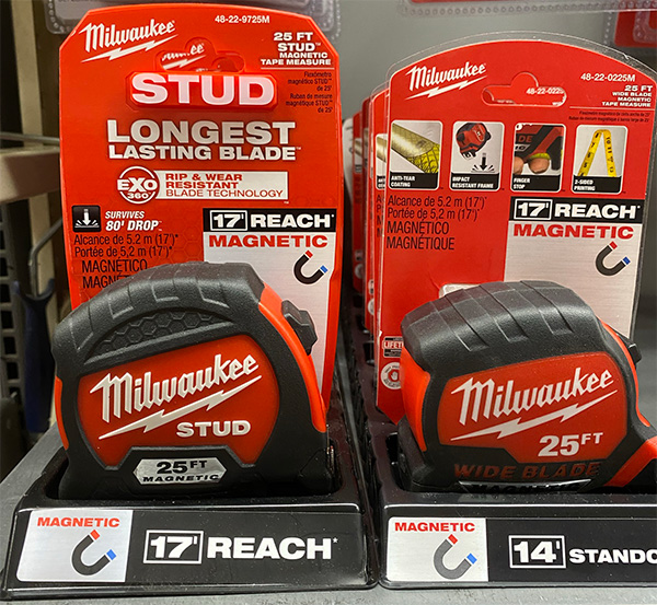 Milwaukee Tape Measures at Home Depot 2021 Advertising Reach