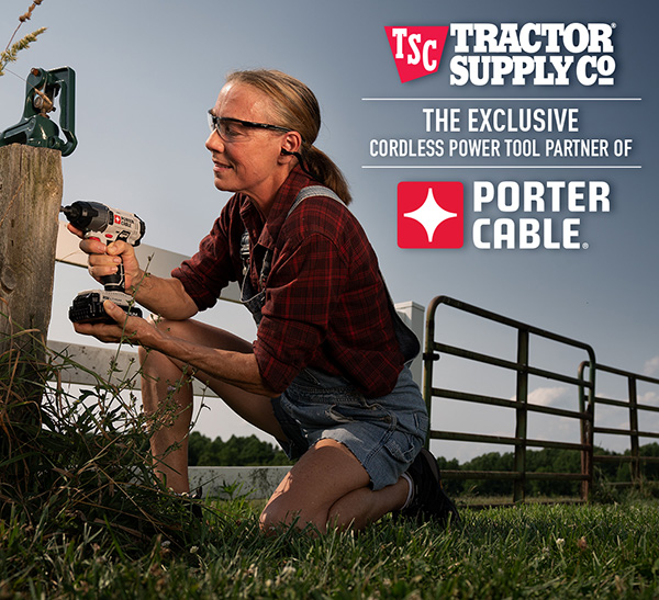 Tractor Supply Porter Cable Exclusive Partner Banner Image