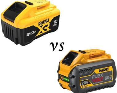 Dewalt 20V 10Ah vs FlexVolt 9Ah Batteries
