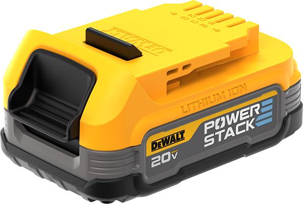 Dewalt PowerStack Cordless Power Tool Battery Angled