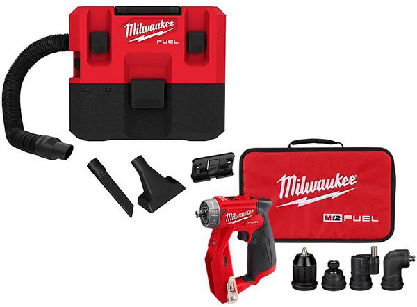 Milwaukee M12 Fuel Vacuum and Installation Driver Promo Bundle