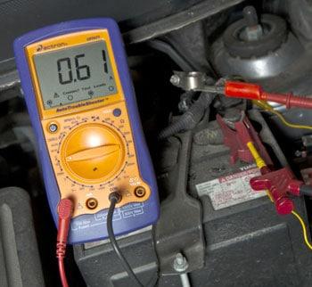 battery test multimeter