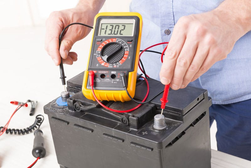 car battery measuring