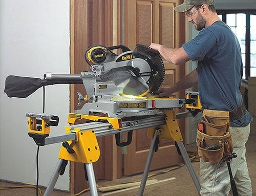 Working on a DEWALT DWS780