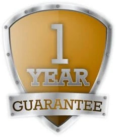 golden shield logo one year guarantee