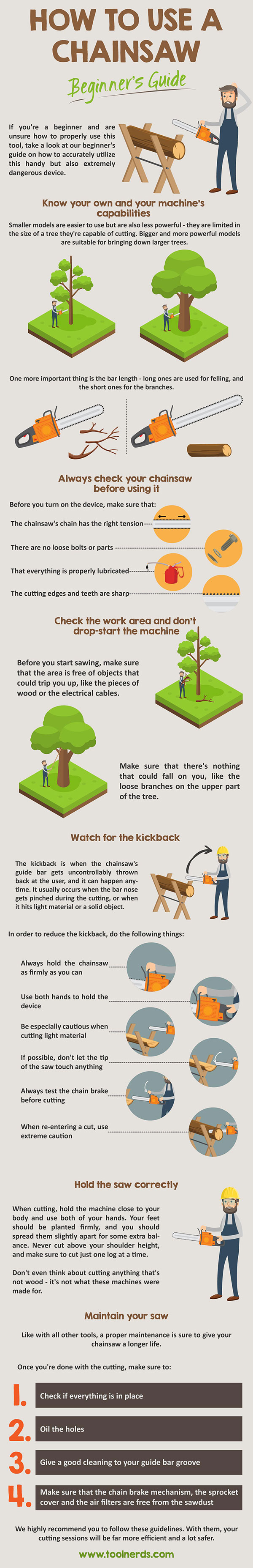 How to Use a Chainsaw - Beginner's Guide