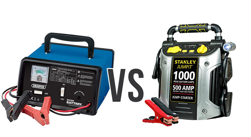 Car Battery Charger vs Jump Starter: What's the Difference?