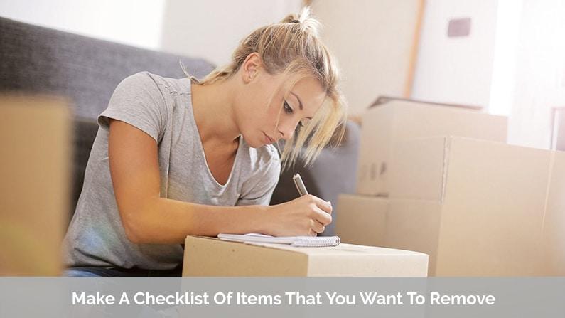 Garage Items Checklist