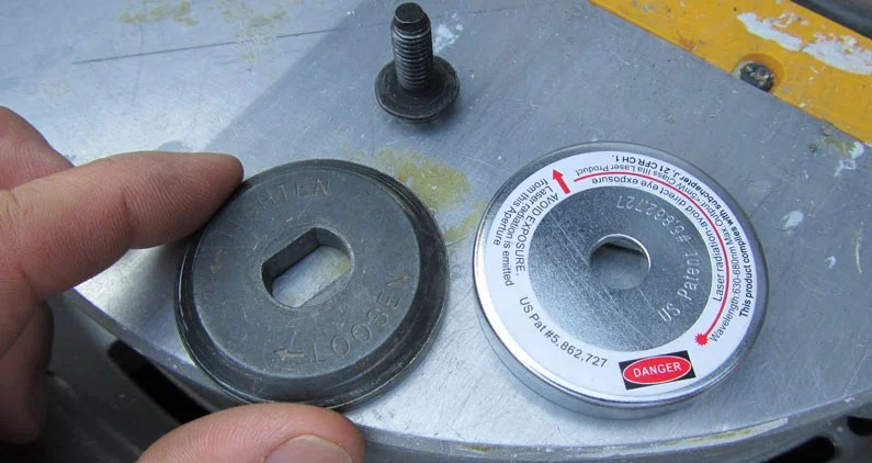 check the nut of your miter saw