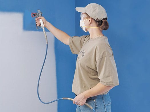 setting up a professional paint sprayer