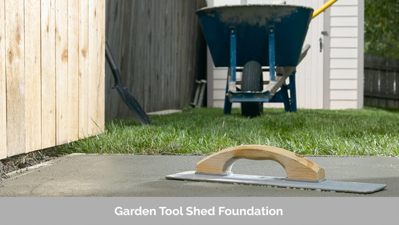 Garden Tool Shed Foundation