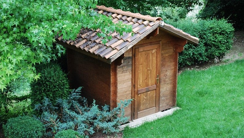 Garden Tool Shed Roof
