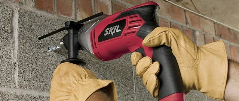 Drilling Concrete With Skil Hammer Drill