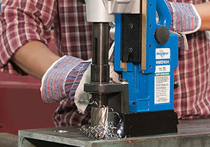 Drilling Hole In Steel With Hougen HMD904