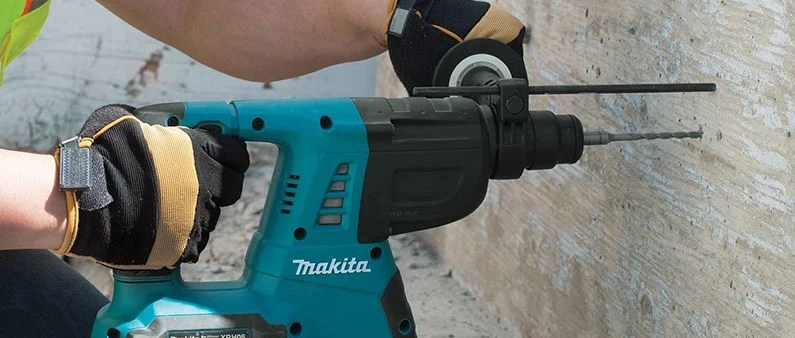 Drilling with Makita XRH05Z