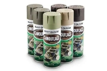 rust-oleum camouflage spray in 6 colors