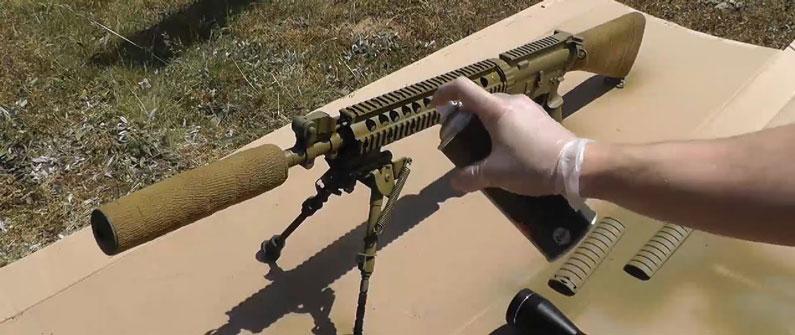 painting gun green