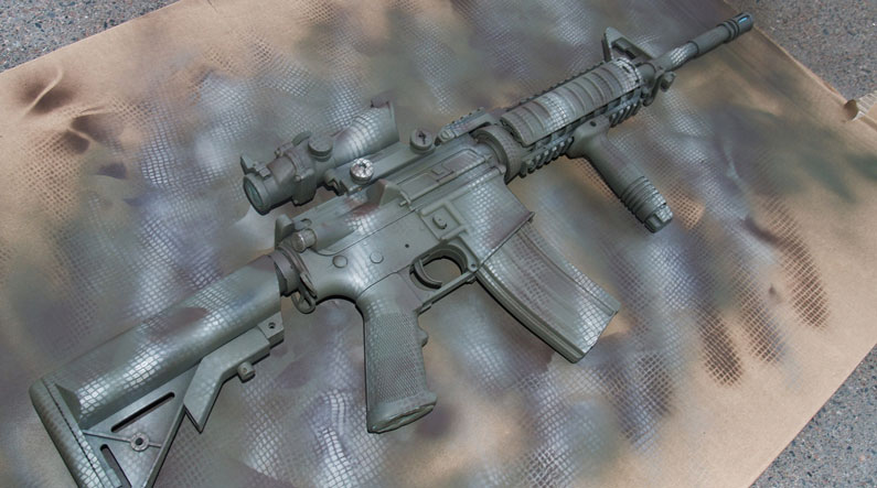 colored rifle