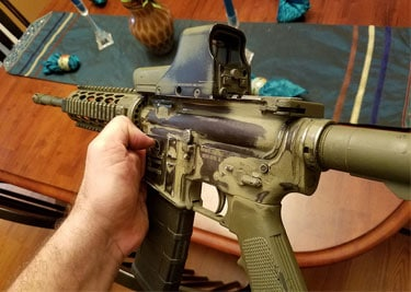 striping paint off AR15