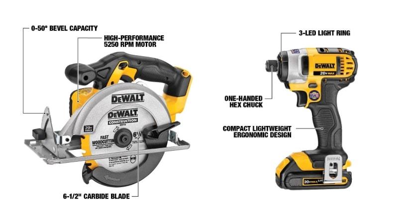 DeWalt  DCK421D2  Features