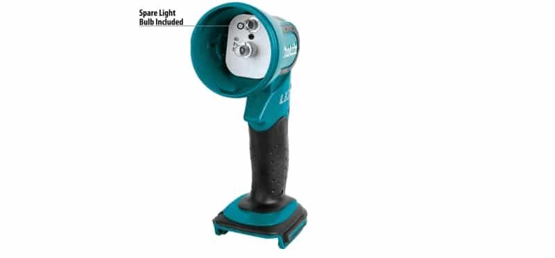 Makita Xenon Flashlight with a spare light bulb