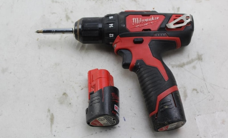 2407-20 Drill Driver on the table