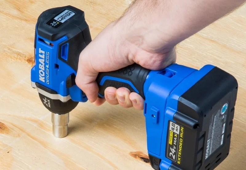 Kobalt Impact Wrench in use