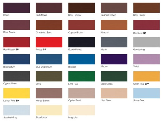 Tractol Paint Colours