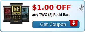 $1.00 OFF any TWO (2) Redd Bars