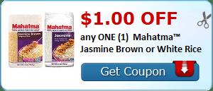$1.00 OFF any ONE (1) Mahatma™ Jasmine Brown or White Rice