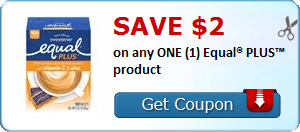SAVE $2.00 on any ONE (1) Equal® PLUS™ product