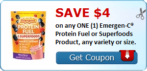 SAVE $4.00 on any ONE (1) Emergen-C® Protein Fuel or Superfoods Product, any variety or size.