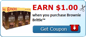 Earn $1.00 when you purchase Brownie Brittle™