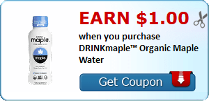 Earn $1.00 when you purchase DRINKmaple™ Organic Maple Water