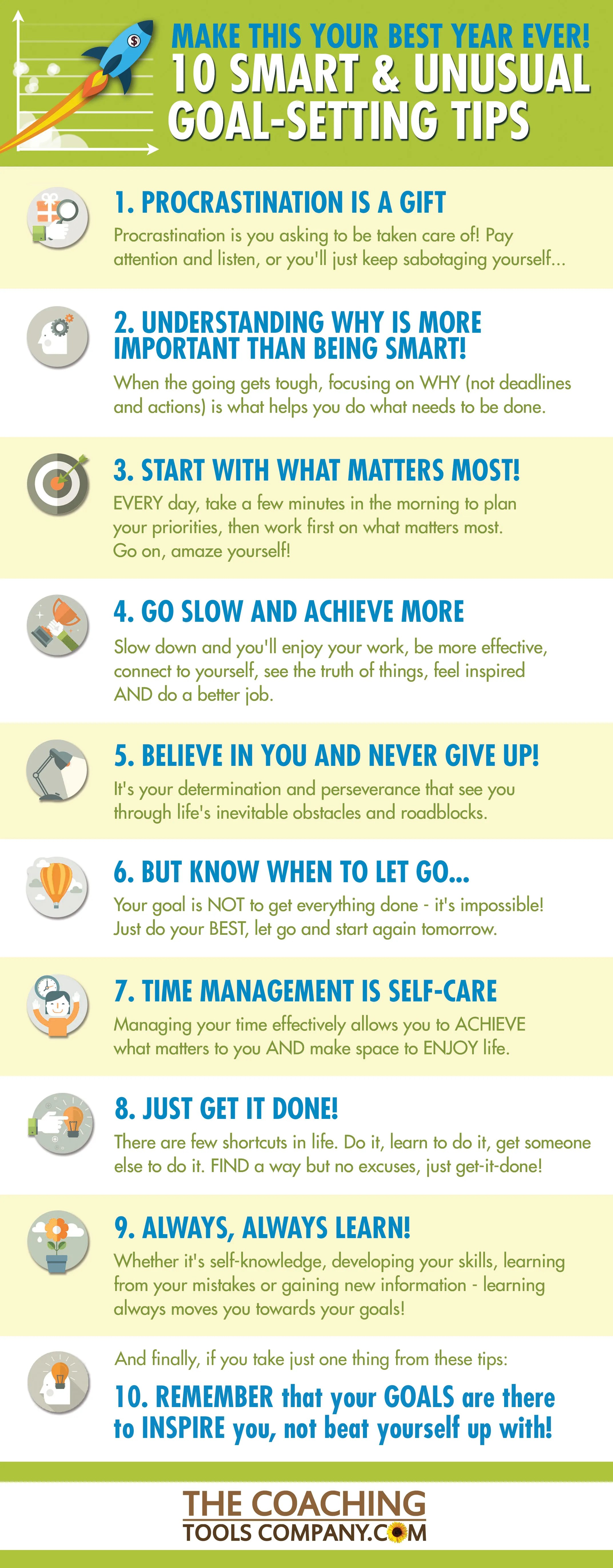 10 Smart And Unusual Goal Setting Amp Action Planning Tips Infographic The Launchpad