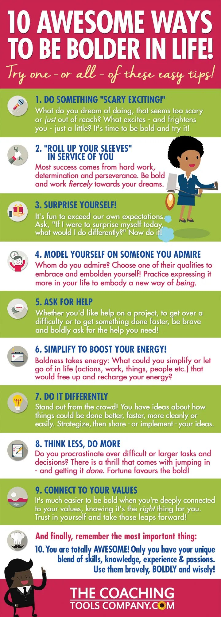 10 Ways to be Bolder in Life