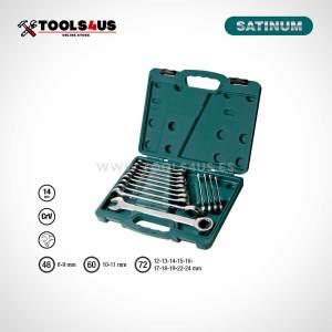 340-14 Satinum estuche herramientas juego llaves combinadas carraca _01