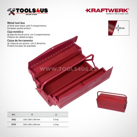 3950-3952 KRAFTWERK caja herramientas metalica clasica compartimentos variados _01
