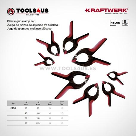 2256 KRAFTWERK herramientas taller barcelona espana Juego pinzas sujecion plastico 01