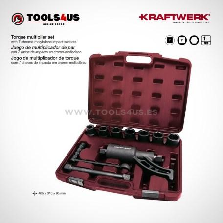 30213 KRAFTWERK herramientas taller barcelona españa Juego multiplicador de par con vasos de impacto 01