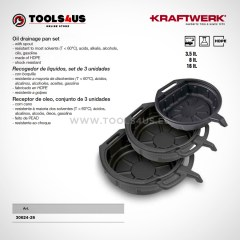30624 26 KRAFTWERK herramientas taller barcelona espana Recogedor Aceite Liquidos Set 3 unidades 01