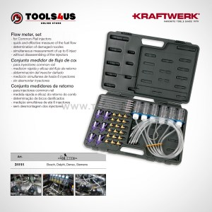 31111 KRAFTWERK herramientas taller barcelona espana Conjunto medidor flujo Common Rail 01