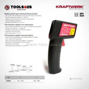 31124 KRAFTWERK herramientas taller barcelona espana Termometro digital con infrarrojos laser 01