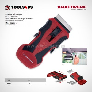 3338 KRAFTWERK herramientas taller barcelona espana Mini rascador hoja retraible 01