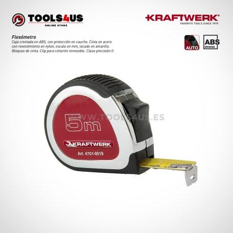 4701-0519-KW flexometro cinta metrica tradicional metro analogico 5 metros precision 01