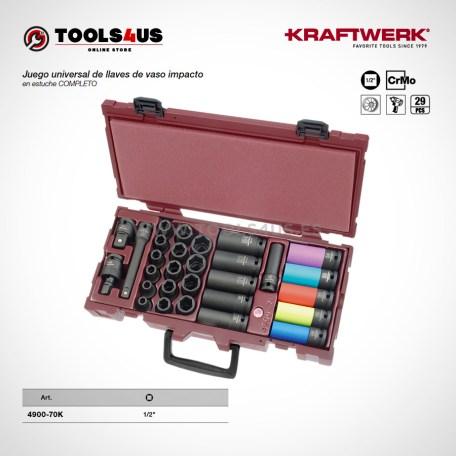 4900 70K KRAFTWERK herramientas taller barcelona espana Estuche completo Vasos de impacto Largos proteccion 29 piezas 01