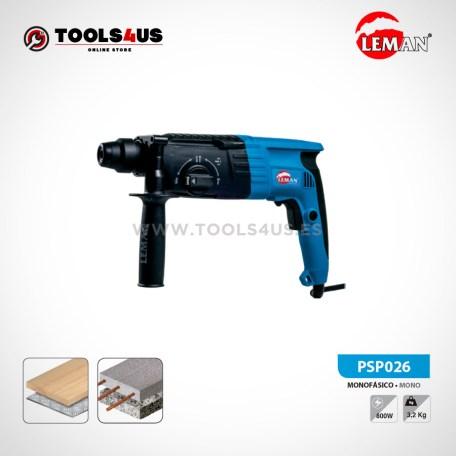 PSP026 Taladro Percutor Perforador SDS+ 800W 24mm Leman 01