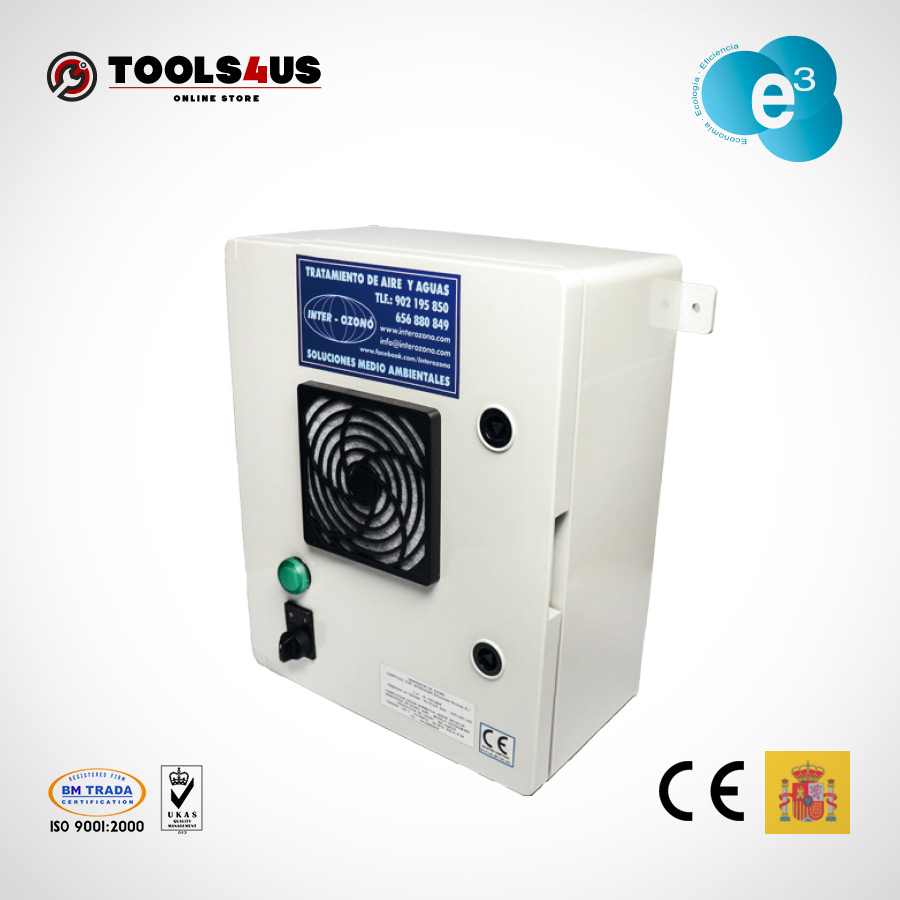 equipo generador ozono fijo oficinas naves desinfectante ambientes aire hoteles locales vehiculos ozogram 400mg 01 - Generador de Ozono Ozogram 400mg